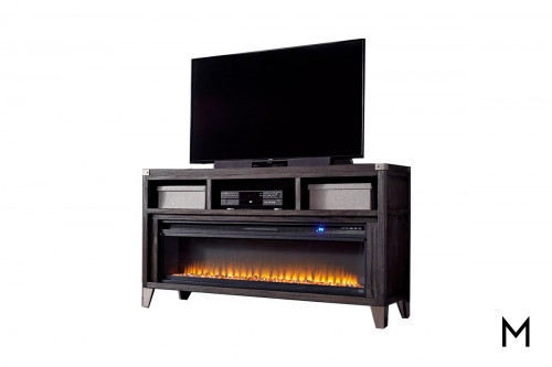 "Entertainment Center 70"" with Fireplace Insert"