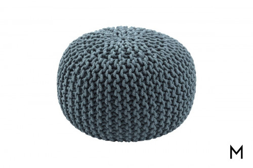 Floor Pouf in Orion Blue