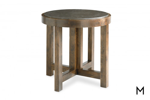 Compass Round Lamp Table