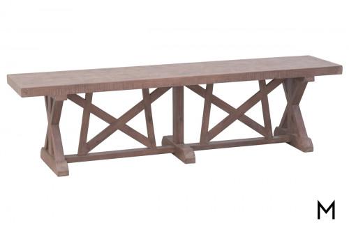 "M Collection 72"" Trestle Farmhouse Bench"
