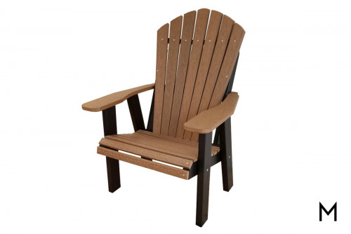 Mahogany with Black Patio Chair