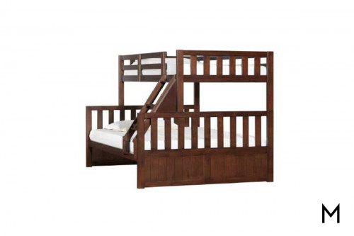 Twin Over Full Bunkbed in Chestnut