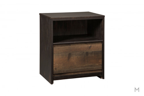 Windlore 1 Drawer Nightstand with Rustic Finish
