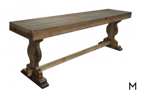Double Pedestal Dining Bench