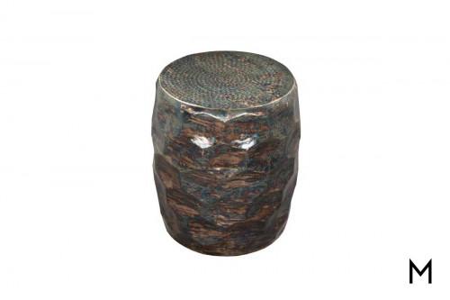 Shelton Honeycomb Side Table in Oil Slick Aluminum