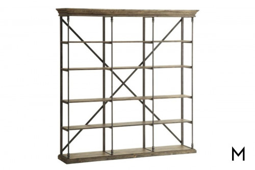 Five Shelf Etagere Bookcase