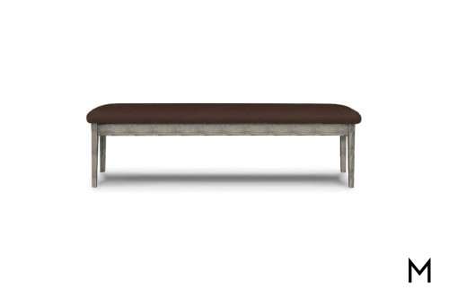 Hearthside Bench in Autumn Gray