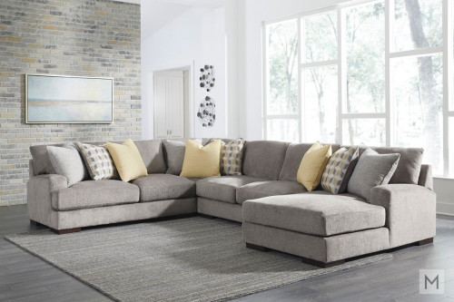 Fallsworth 4 Piece Sectional in Gray