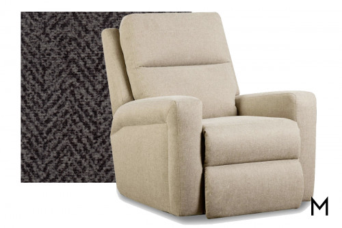 M Collection Metro Rocker Recliner in Tweed Gunmetal