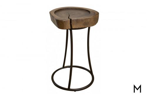 Live Edge Wood Martini Table