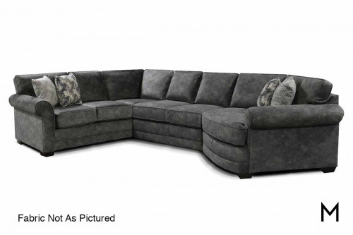 Brantley Sectional in Brentwood Pepper