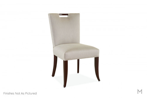 Darby Upholstered Dining Side Chair featuring Gray Windowpane Fabric