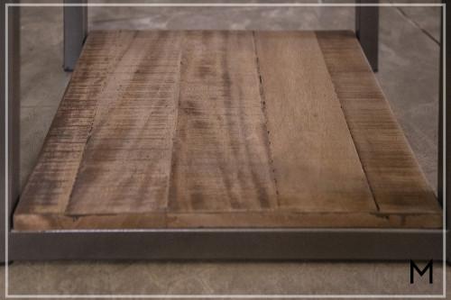 Rustic 2-Drawer Sofa Table