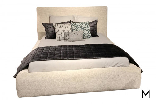 Jill Platform Queen Bed in Linen