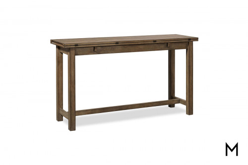 Terrace Sofa Table with Foldout Leaves