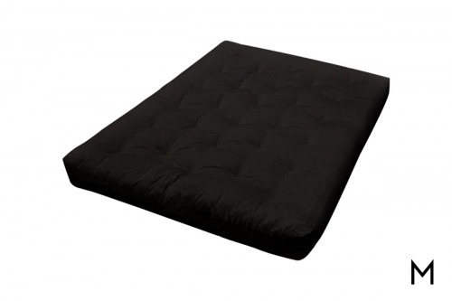Cotton Futon Mattress in Black Microfiber