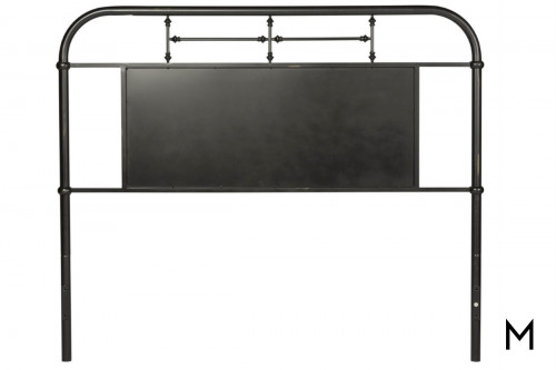 Vintage Metal Headboard - Queen in Black