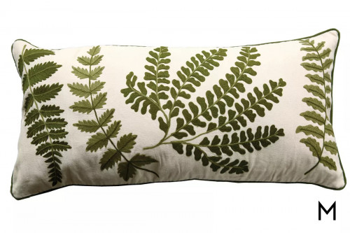 Embroidered Bolster Pillow