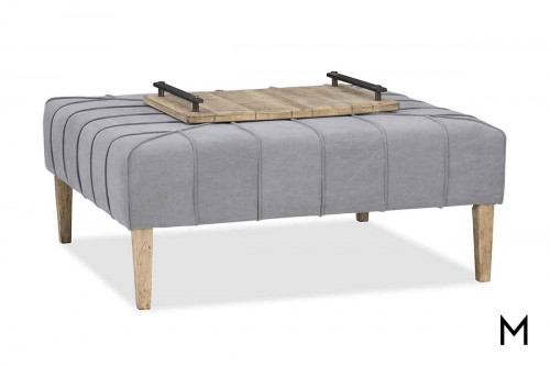 Urban Elevation Ottoman with Tray