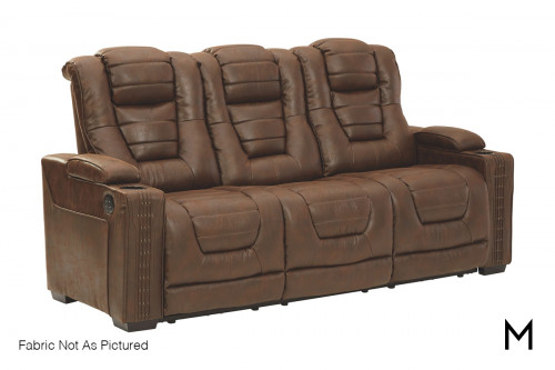 Owner's Box Power Recliner Sofa with Power Outlets