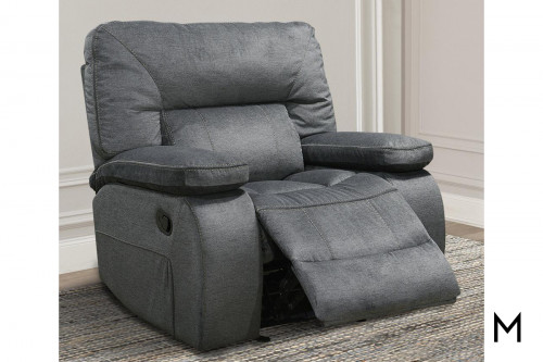 M Collection Glider Recliner in Polo Blue