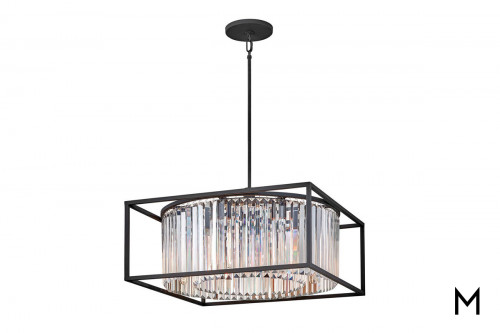 Inset Crystal Prism 8-Light Chandelier