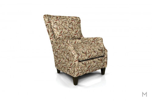 French Accent Chair in Garfield Redstone