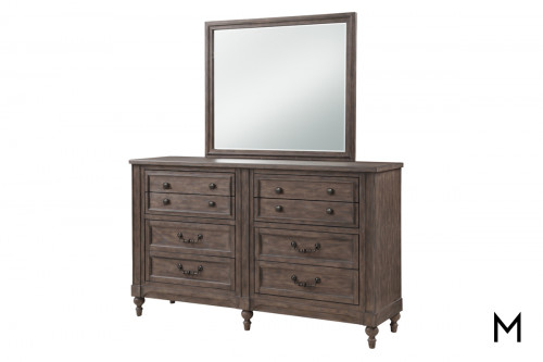 Relaxed Traditional Dresser Mirror