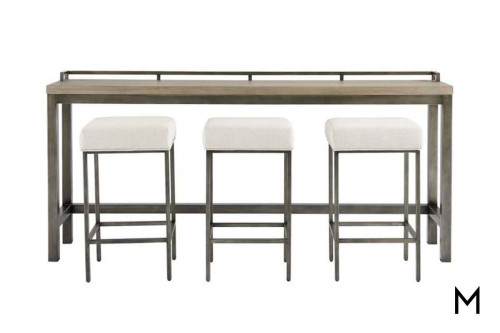 Mitchell Console Table with Stools