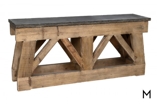 Trestle Stone Top Console Table
