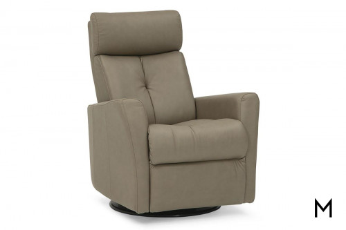 Leather Power Recliner with Power Adjustable Headrest