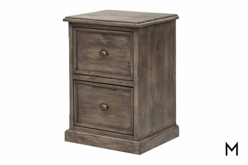 Irish Coast Filing Cabinet in Distressed Gray
