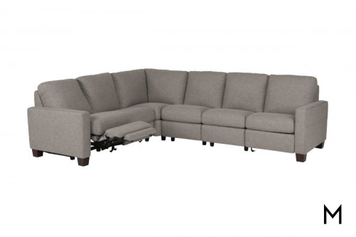 Britton Power Reclining Sectional with 6 Pieces