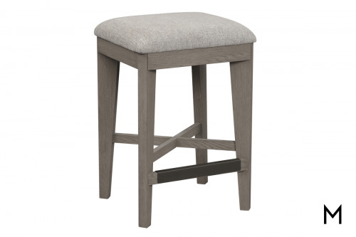 M Collection Modern Gray Counter Stool