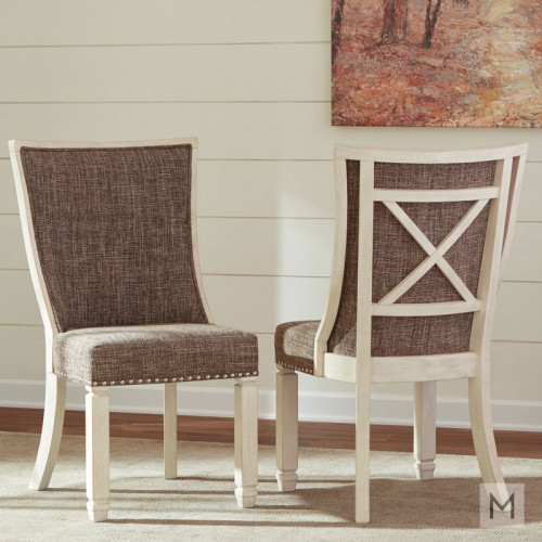 Bolanburg Upholstered Dining Chair in Vintage White