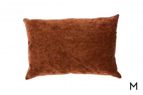 "Luxe 16""x24"" Accent Pillow in Russet Brown"