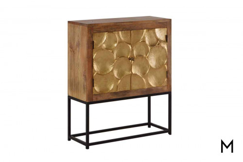 M Collection Capiz Cabinet on Stand