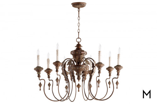 Vintage Copper 8-Light Chandelier