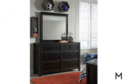 Jaysom Youth Dresser Mirror in Vintage Black