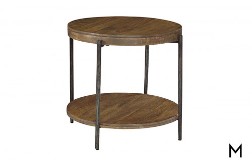 Bedford Round Accent Table with Mango solid wood