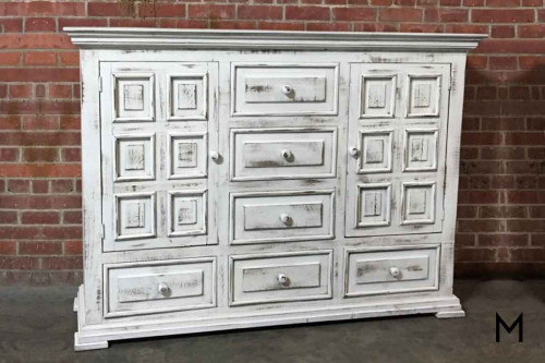 M Collection Chalet Dresser in Nero White