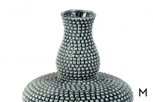 Textured Teal Vase