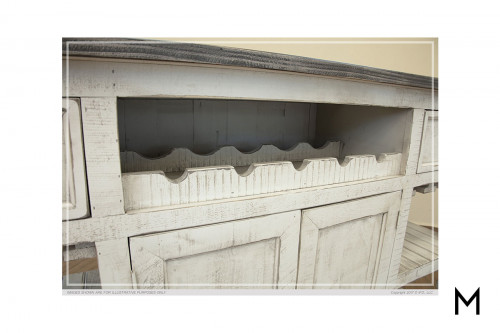 Stone Bar with Drawers and Doors
