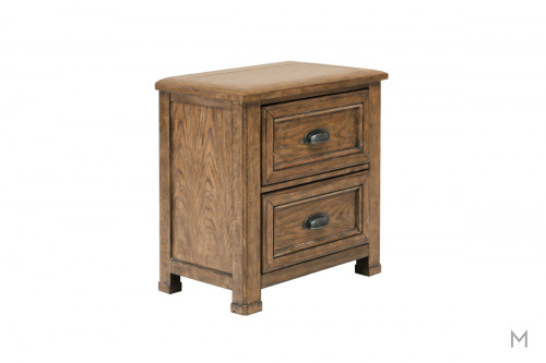 Heartland Falls 2 Drawer Nightstand with Rustic Plank Details