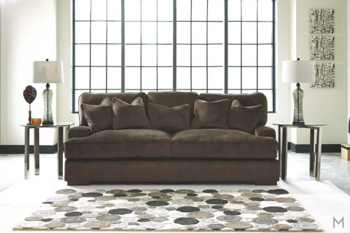 Ultra Plush Bisenti Sofa in Chocolate Brown