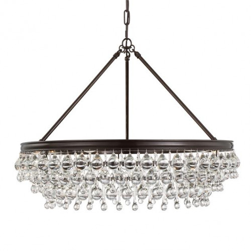 Crystal Drops 6-Light Chandelier