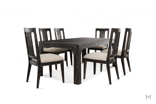 "Bellagio 76"" Dining Table in Weathered Black"