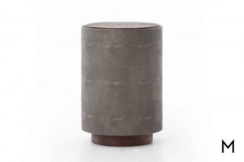 Crosby Side Table in Faux Shagreen and Peroba Wood