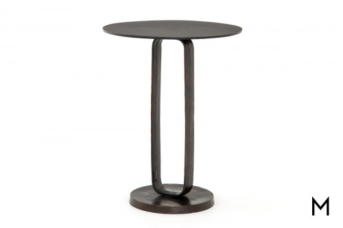 Round Modern Rust End Table