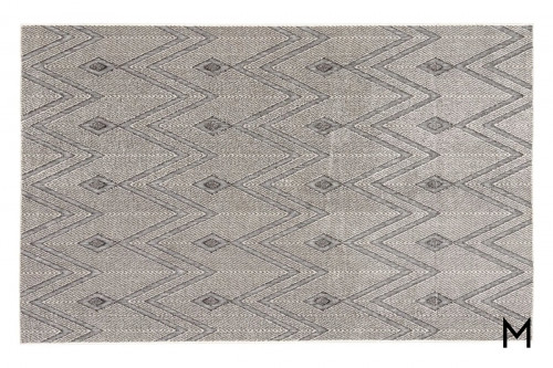 Luz Area Rug 8'x11' in Lily White and Lunar Rock